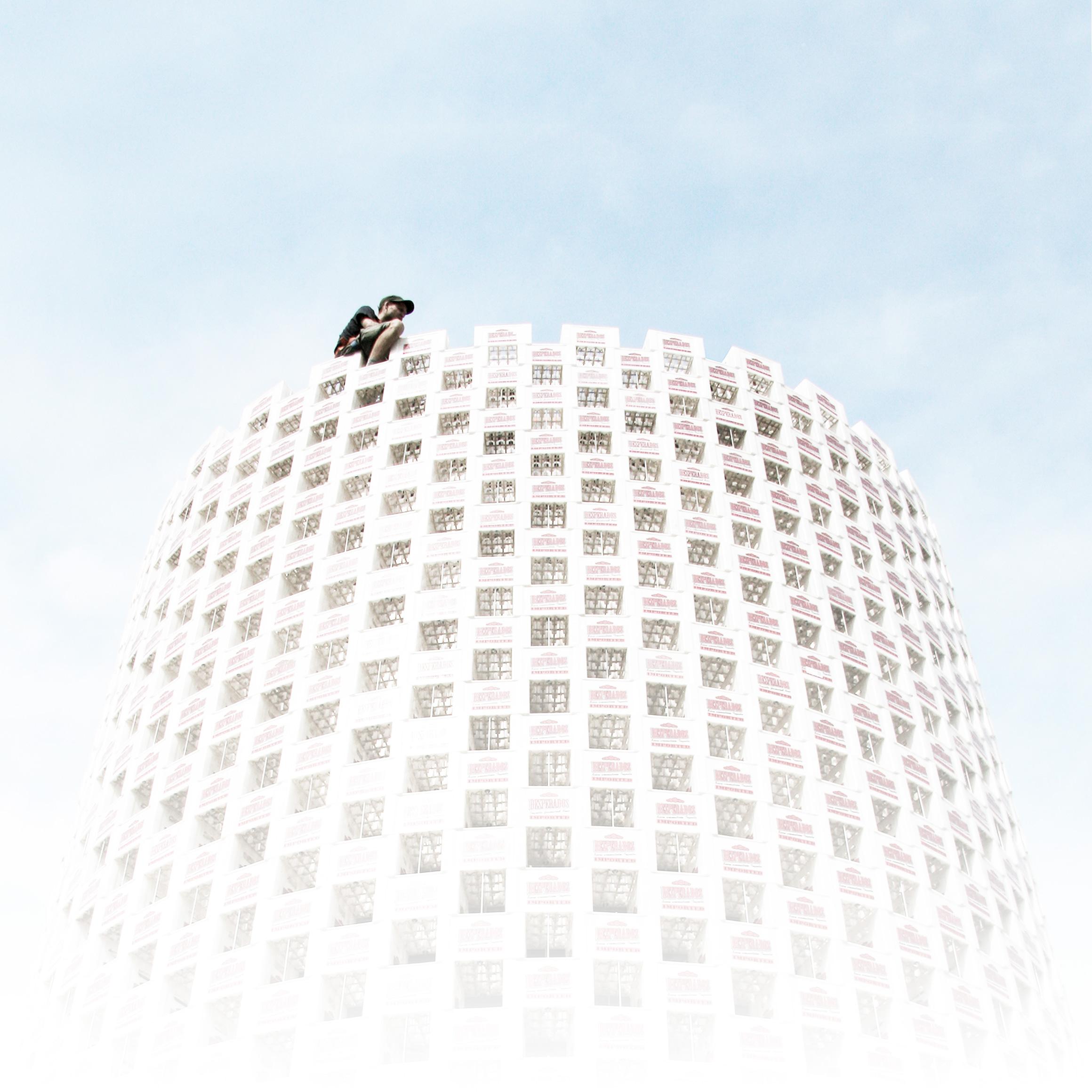 Mann auf Turm